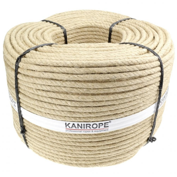 Hemp rope HEMPTWIST ø12mm 4-strand twisted by Kanirope®