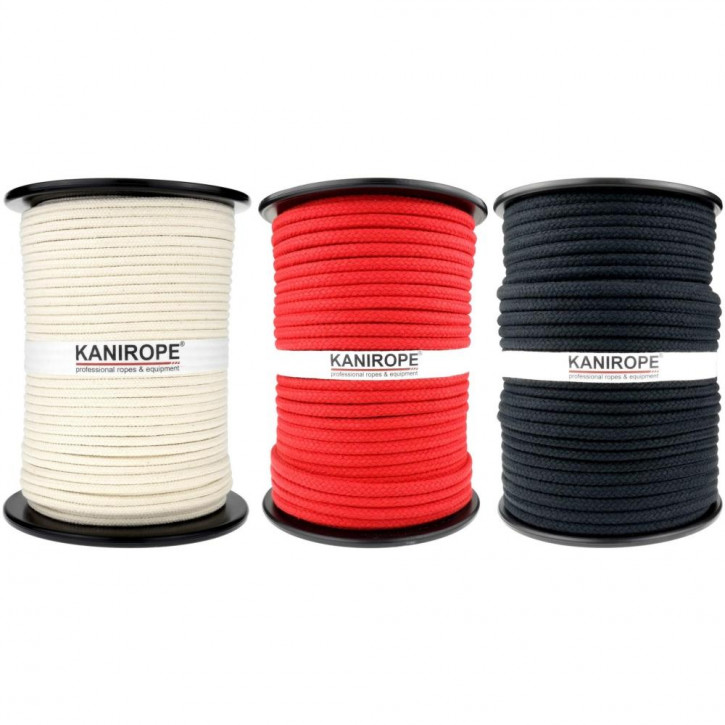 Cotton Rope COBRAID ø6mm 16-strand Braided by Kanirope®