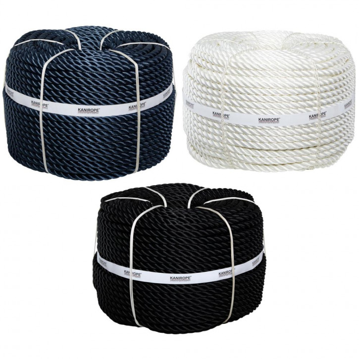 Polyester Rope POLYTWIST ø18mm 3-strand twisted by Kanirope®