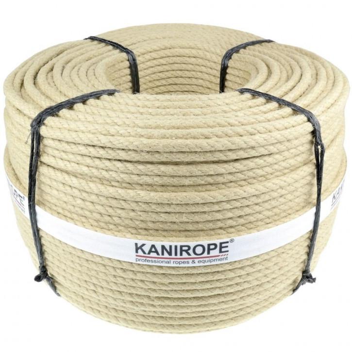 Polyhemp rope SPINTWIST ø4mm 3-strand twisted by Kanirope®