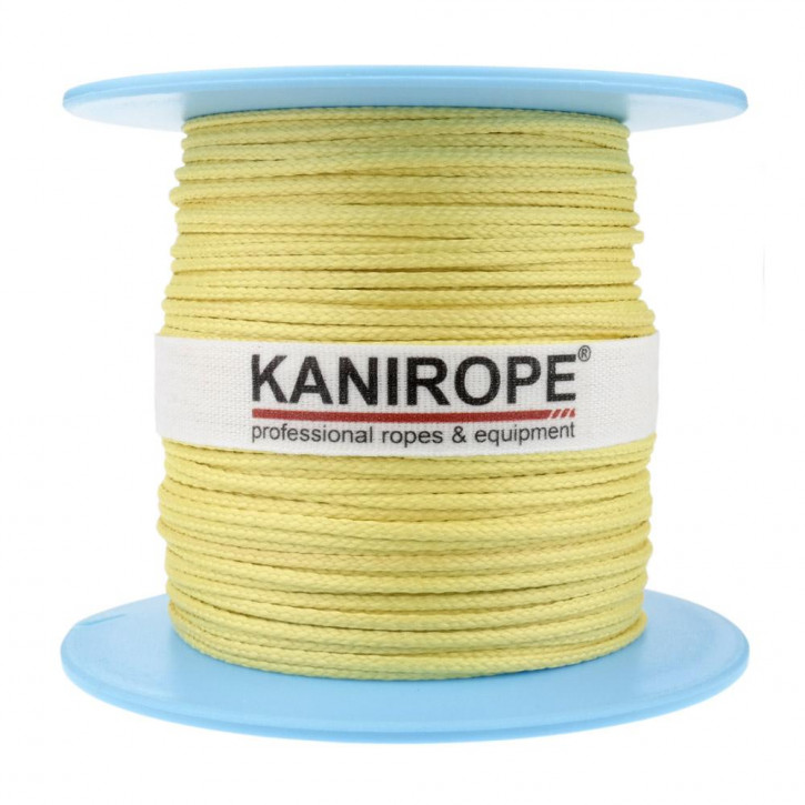 Aramid rope ARABRAID ø2mm 16-strand braided by Kanirope®
