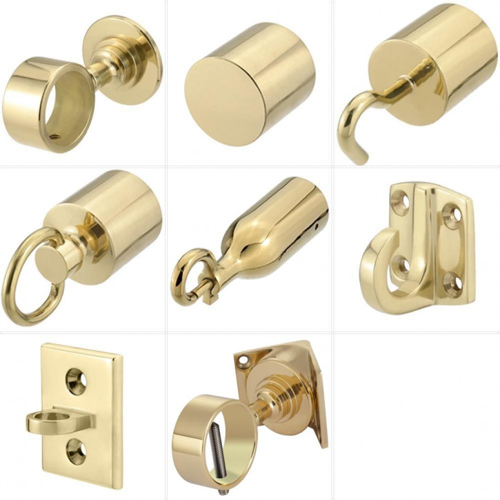 """Handrail Rope Accessories """"Shiny Brass"""" by Kanirope®"""