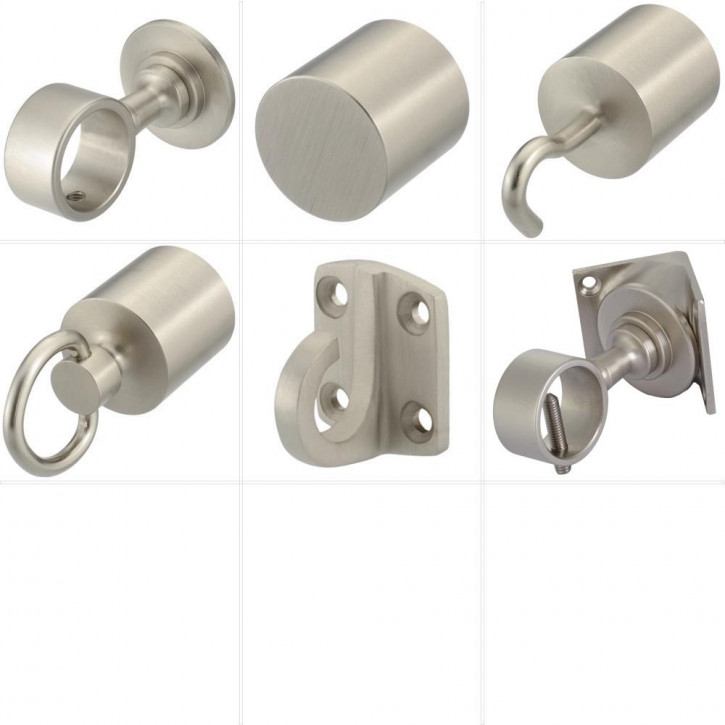 """Barrier Rope Accessories """"Nickel Plated"""" by Kanirope®"""