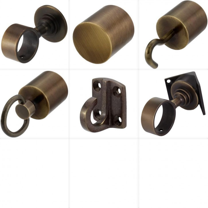"""Barrier Rope Accessories """"Bronze Plated"""" by Kanirope®"""