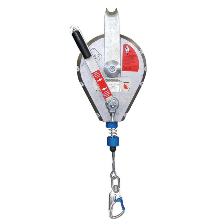 Retractable type fall arrester with lift function HRA WIRE by Ikar