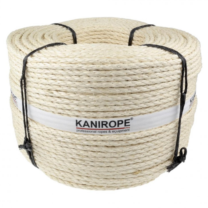 Sisal rope AGAVE ø8mm 4-strand twisted by Kanirope®