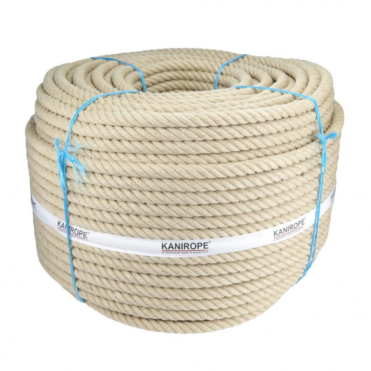 Hemp rope HEMPTWIST ø36mm 4-strand twisted by Kanirope®