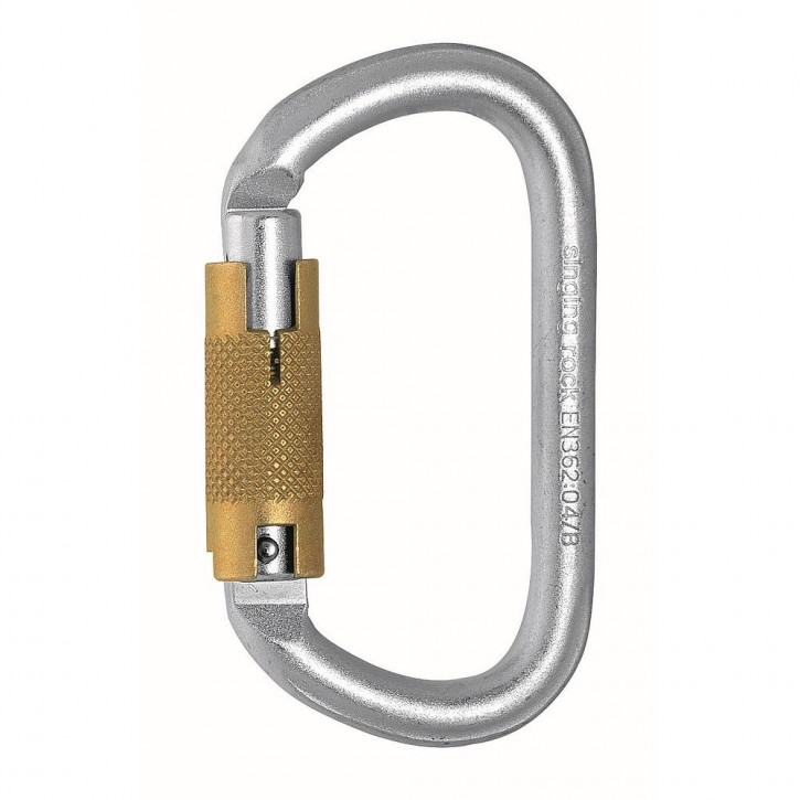 Carabiner STEEL TRIPLELOCK OVAL by Singing Rock