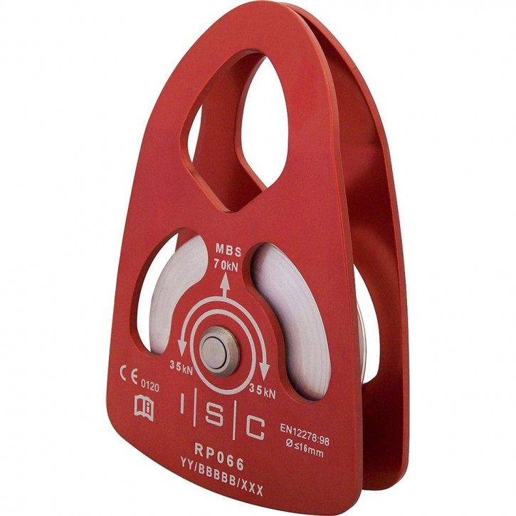 Pulley SINGLE LARGE RED ball-bearing by ISC