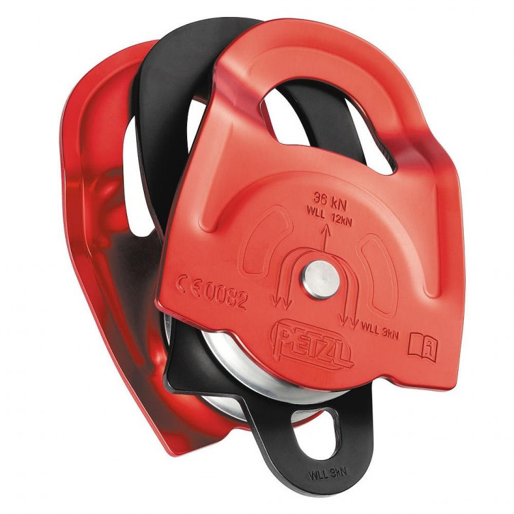 High efficiency double prusik pulley TWIN by Petzl®
