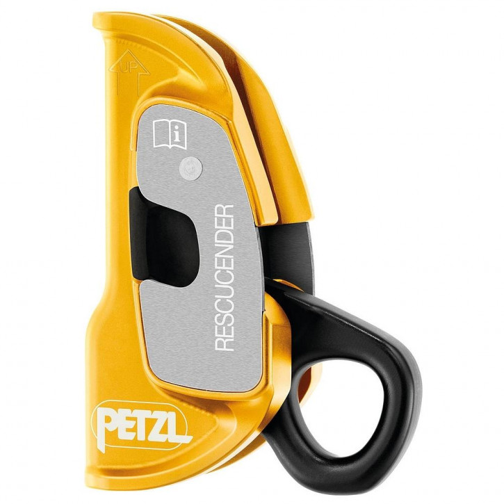 Openable cam-loaded rope clamp RESCUCENDER by Petzl®