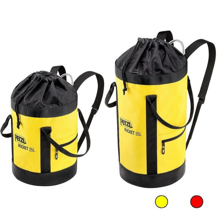 Bag with exterior folding lid system BUCKET by Petzl®