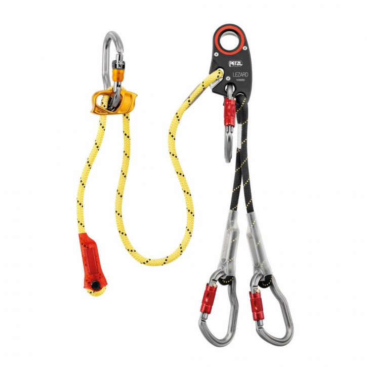 Helivac lanyard with securing of the drop-off/recovery LEZARD by Petzl®