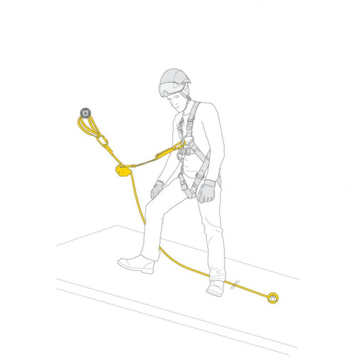 Kit for protection against falls ASAP VERTICAL LIFELINE by Petzl®