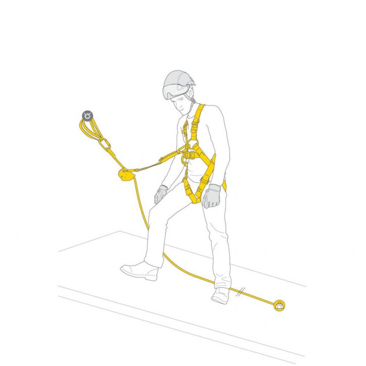 Kit for protection against falls ASAP FALL ARREST KIT by Petzl®