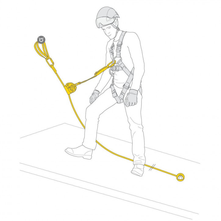 Kit for protection against falls ASAP LOCK VERTICAL LIFELINE by Petzl®