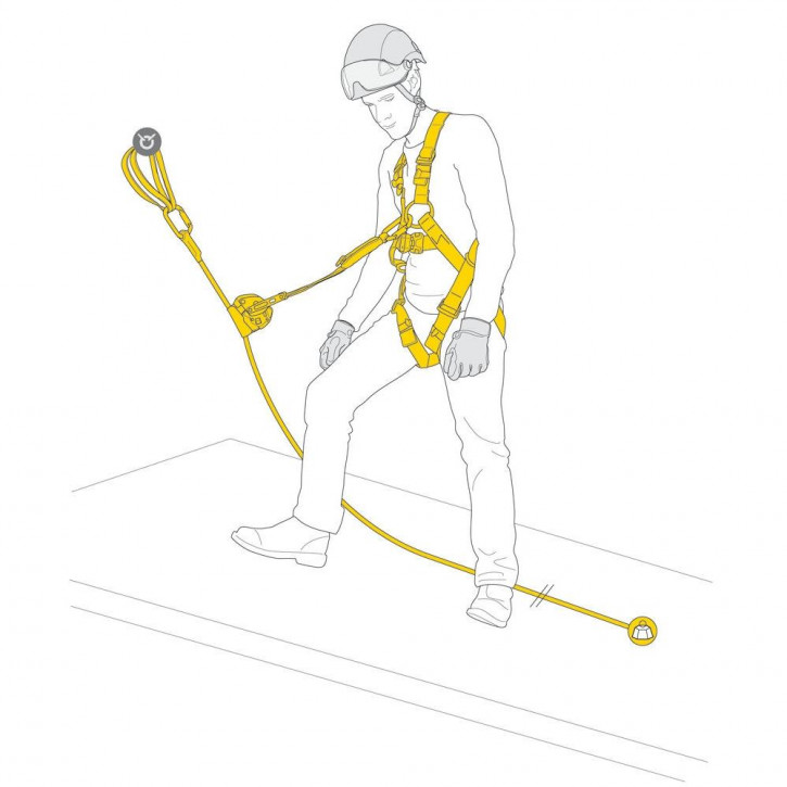 Kit for protection against falls ASAP LOCK FALL ARREST KIT by Petzl®