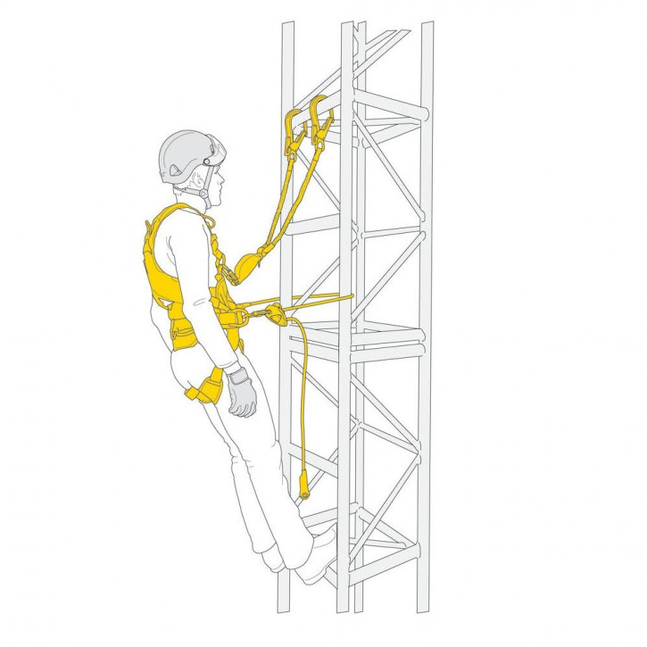 Kit for protection against falls FALL ARREST AND WORK POSITIONING KIT by Petzl®