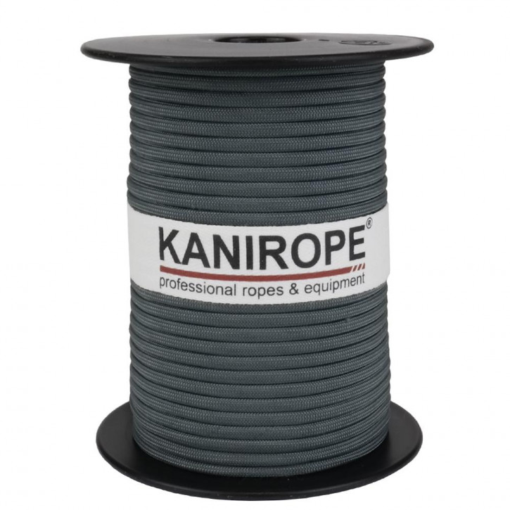 Paracord 550 XPRO ø3,8mm grey braided by Kanirope®