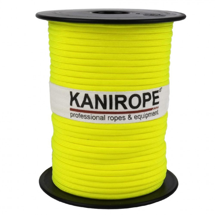 Paracord 550 XPRO ø3,8mm neon yellow braided by Kanirope®