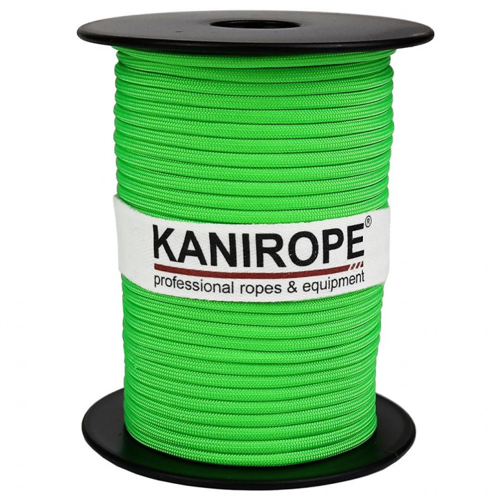 Paracord 550 XPRO ø3,8mm neon green braided by Kanirope®
