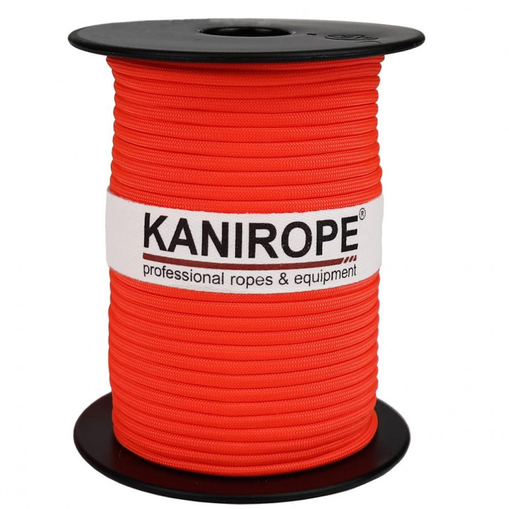 Paracord 550 XPRO ø3,8mm neon orange braided by Kanirope®