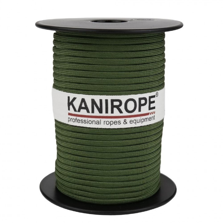 Paracord 550 XPRO ø3,8mm fir green braided by Kanirope®