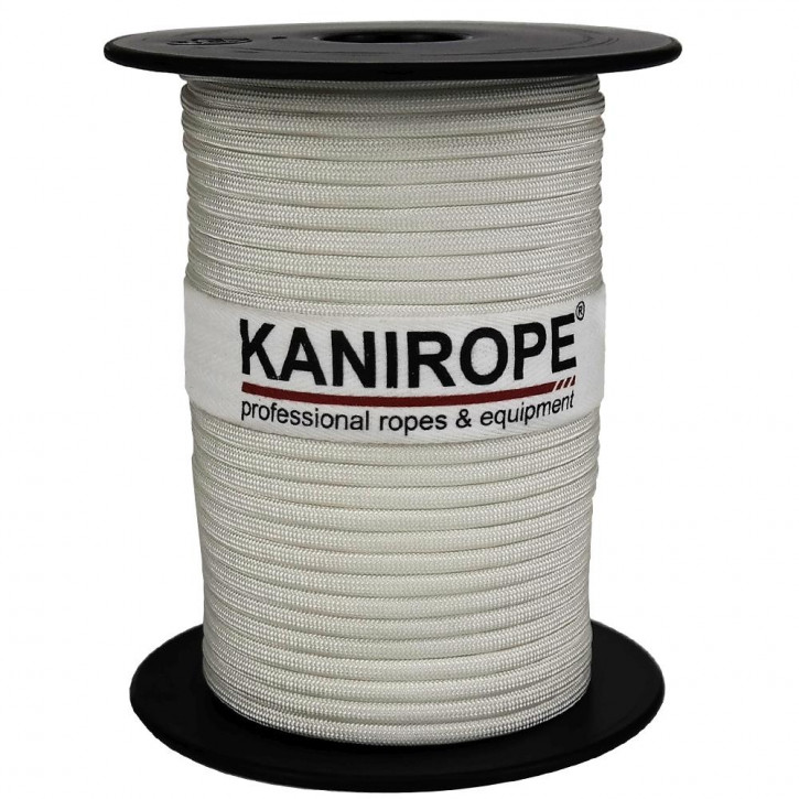 Paracord 550 XPRO ø3,8mm white braided by Kanirope®