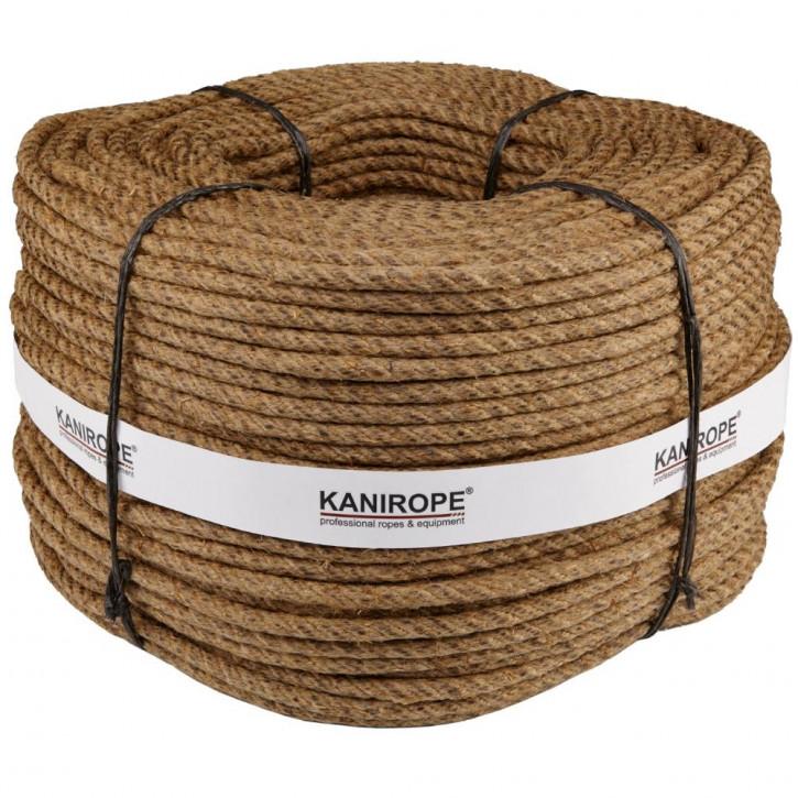 Hemp rope HEMPTWIST ø8mm 220m 4-strand twisted by Kanirope®