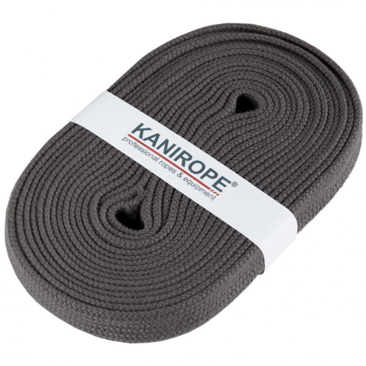 Flat cord HOODIECORD dark grey 5m by Kanirope®