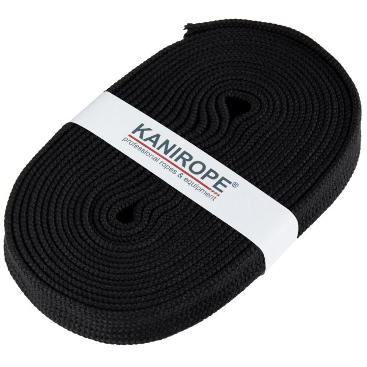 Flat cord HOODIECORD black 5m by Kanirope®