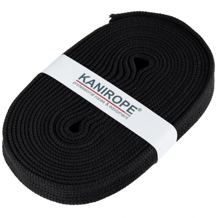 Flat cord HOODIECORD black 5m by Kanirope®