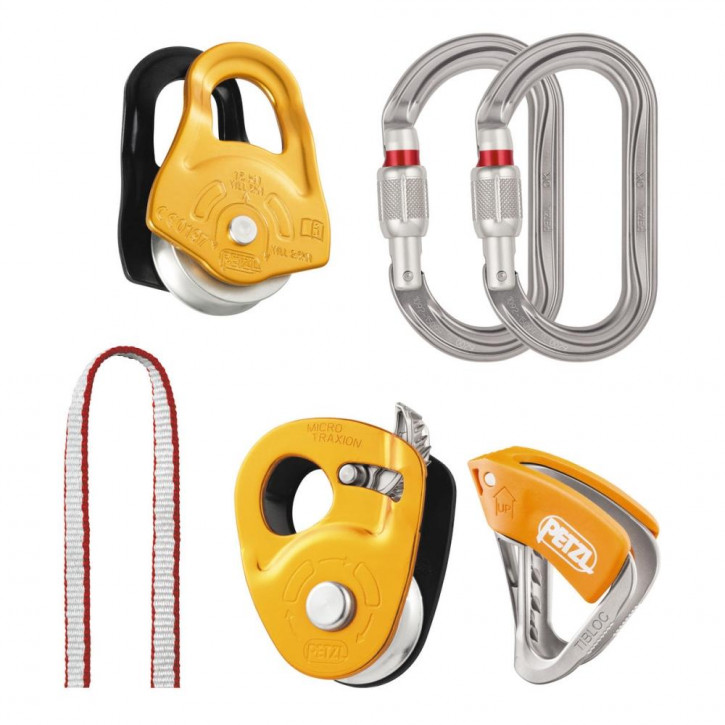 Kit for hauling and self-rescue from crevasses KIT SECOURS CREVASSE by Petzl®