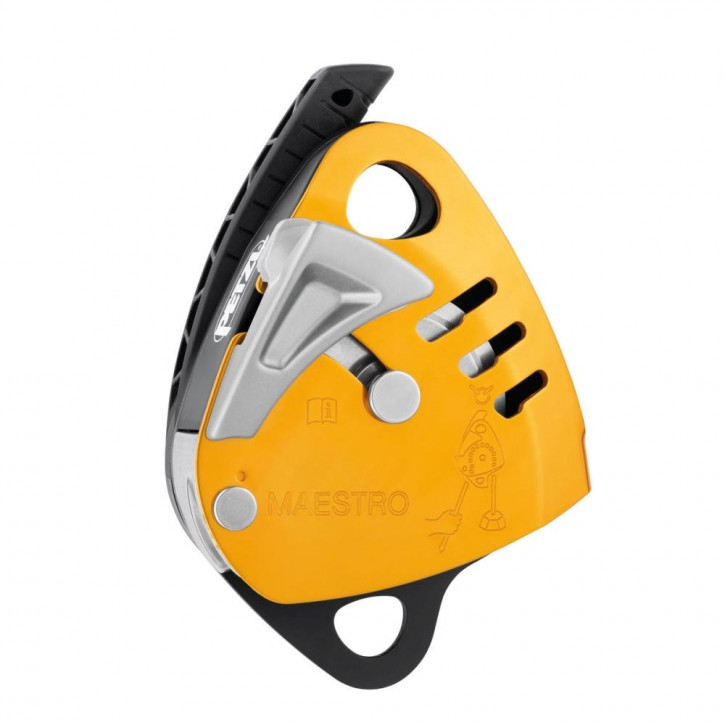 Descender with integrated progress-capture pulley MEASTRO S by Petzl®
