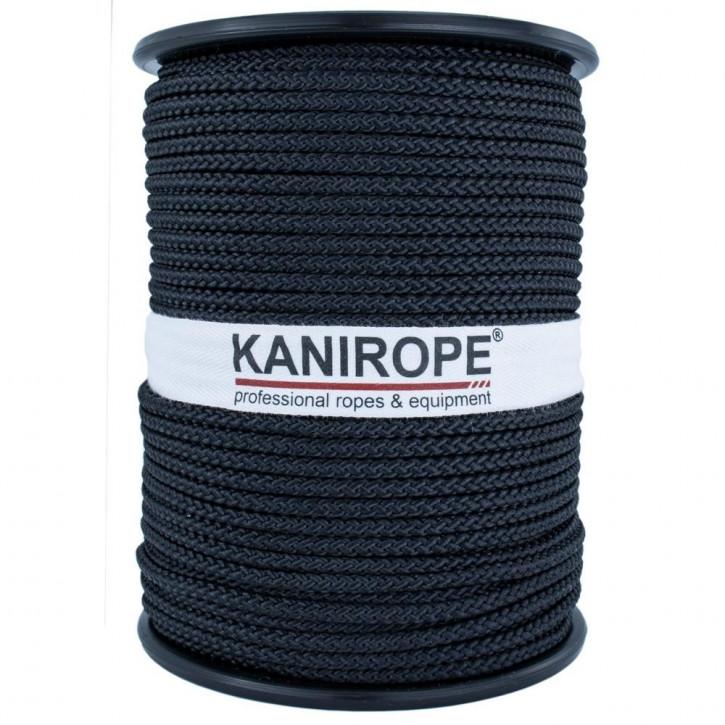 Kanirope® POLYBRAID BLACK polyester rope braided