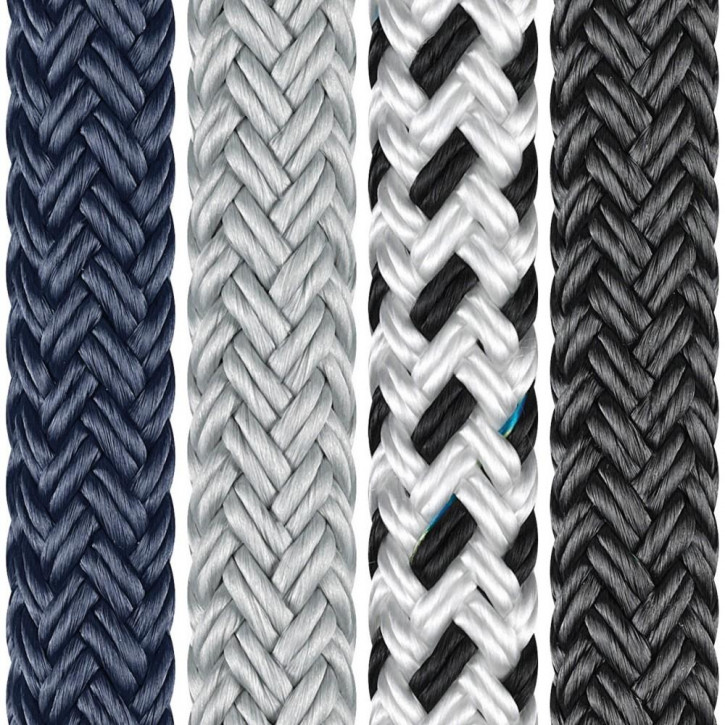 Polyester Rope PORTO ø8mm 16-strand braided by Liros