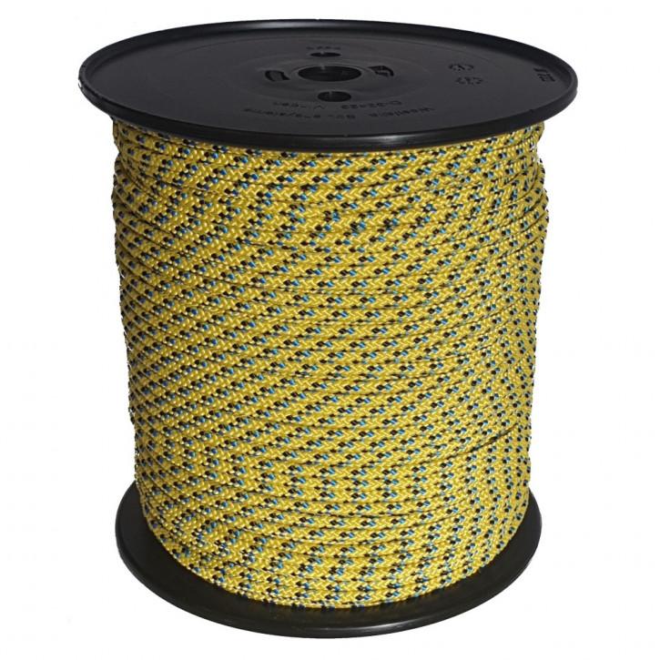 Technora rope TECBRAID ø5mm 16-strand braided by Kanirope®
