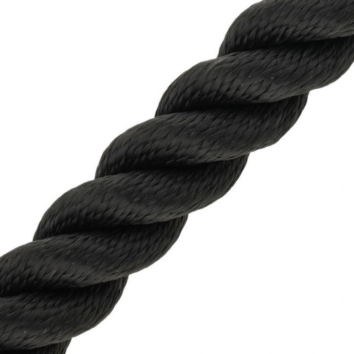 Handrail Rope MULTITWIST ø28mm by the Meter Black by Kanirope®
