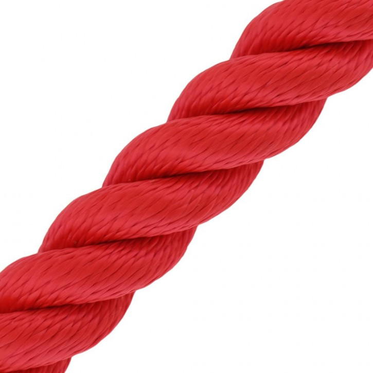 Handrail Rope MULTITWIST ø28mm by the Meter Red by Kanirope®