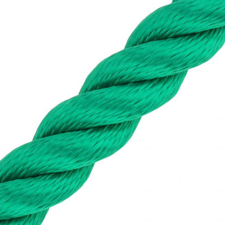 Barrier Rope MULTITWIST ø28mm by the Meter Green by Kanirope®