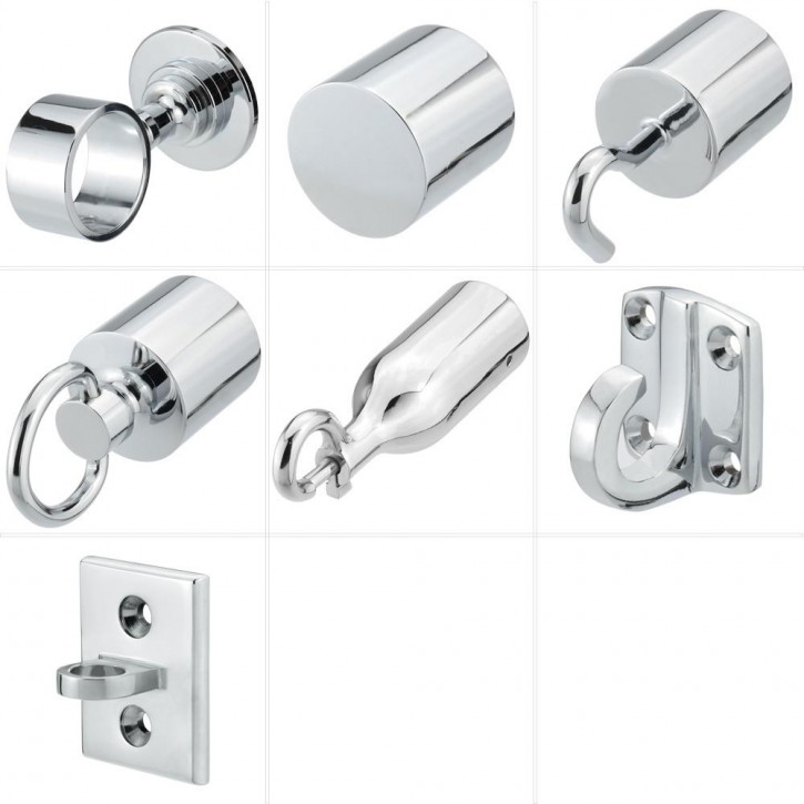 "Handrail Rope Accessories ""Chrome Plated"" by Kanirope®"