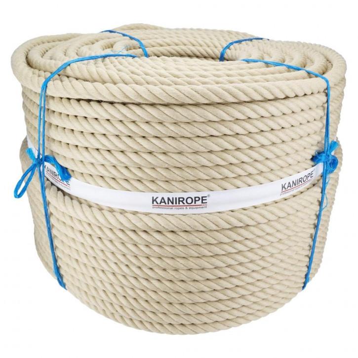 Polyhemp rope SPINTWIST ø20mm 4-strand twisted by Kanirope®