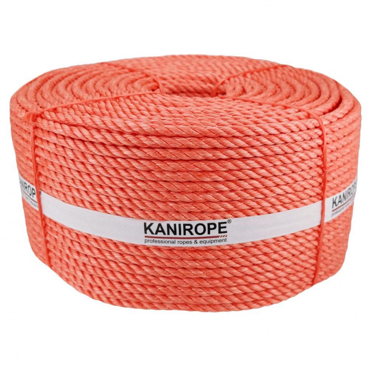 Polypropylene Rope SPLIT ø4mm 500m Coil orange 3-strand twisted by Kanirope®