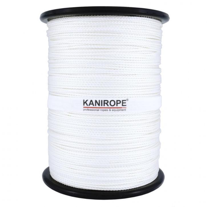 Polyamide Rope NYLONBRAID ø1mm 500m Reel white 8-strand braided by Kanirope®