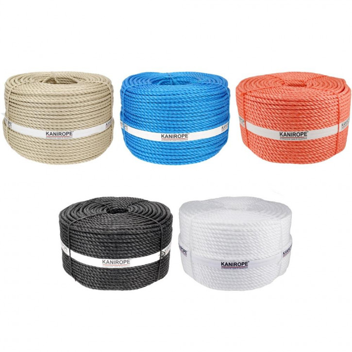 Polypropylene Rope SPLIT ø6mm 3-strand twisted by Kanirope®