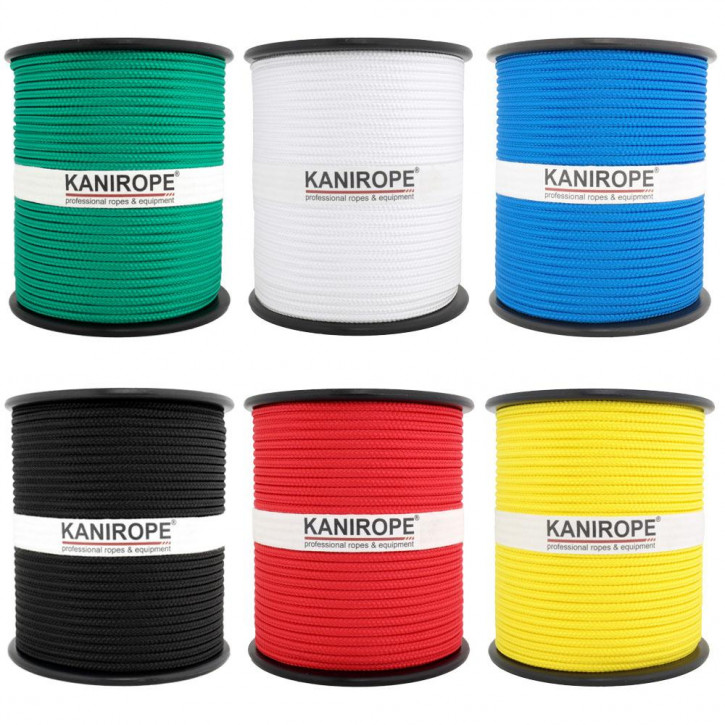 PP Rope MULTIBRAID ø4mm Standard Colours Braided by Kanirope®