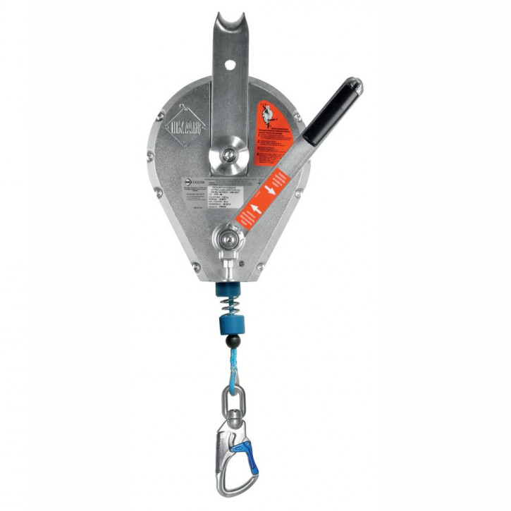 Retractable type fall arrester HRA DYNEEMA with lift function by Ikar