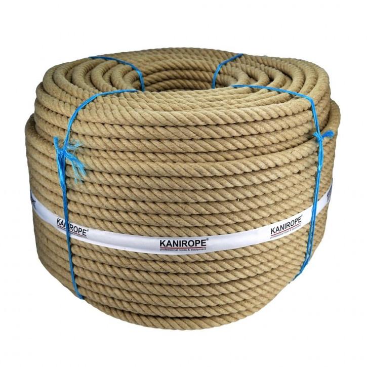 Jute Rope J-TWIST ø18mm 3-strand twisted by Kanirope®